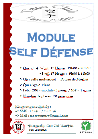 Affiche Self defense