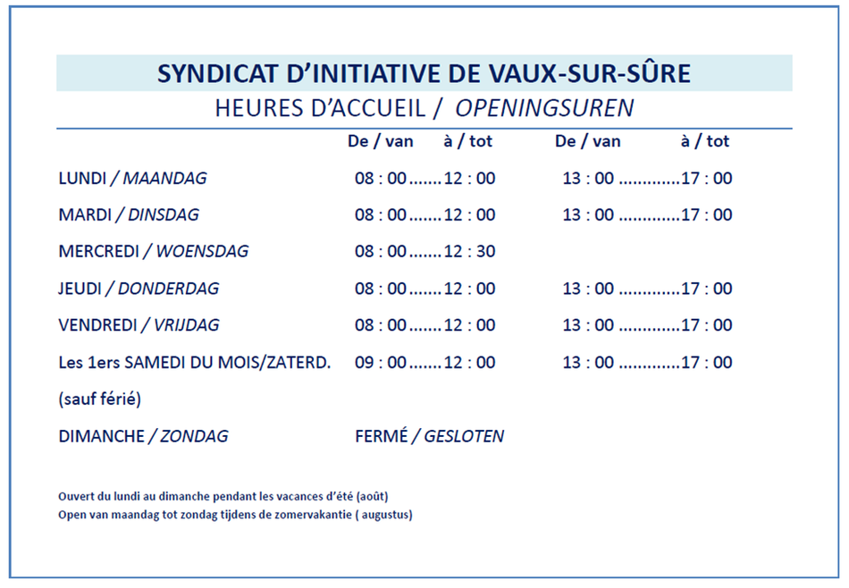 Horaire SI